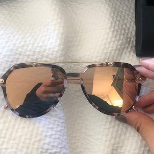 Dolce&gabbana 4330 rose gold mirrored sunglasses